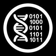 Genome Code Rounded Vector Icon - stock illustration