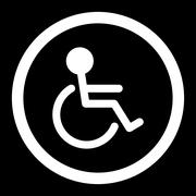 Handicapped Rounded Vector Icon Stock Illustration