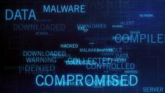 Computer Crime and security  Stock Footage