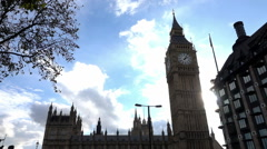 Big Ben and Westminster Palace - stock footage