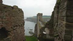 Tantallon Castle Stock Footage