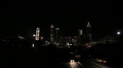 A view of downtown Atlanta at night. - stock footage