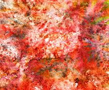 Abstract watercolor background and branch plant. Mixed media Stock Illustration