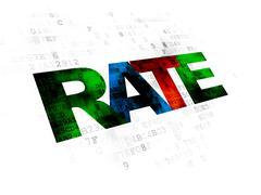Stock Illustration of Money concept: Rate on Digital background