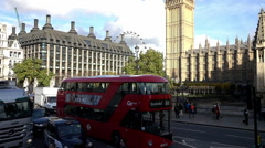 Street view at Westminster Palace - Extreme Slow Motion - stock footage