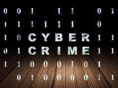 Stock Illustration of Safety concept: Cyber Crime in grunge dark room