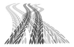 Stock Illustration of Tire track background