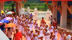 Ordination in the summer of Thailand. Stock Footage
