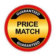 Price Match Guarantee Gold Label Sign Template Vector Illustrati - stock illustration