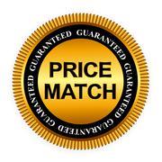 Stock Illustration of Price Match Guarantee Gold Label Sign Template Vector Illustrati
