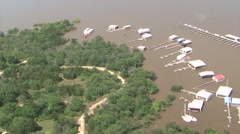 Oklahoma, May 2015, Landscape Overview Southeastern Oklahoma After Flooding - stock footage
