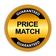 Price Match Guarantee Gold Label Sign Template Vector Illustrati Stock Illustration