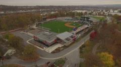Rising Shot of Metro Bank Park Harrisburg. Stock Footage