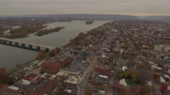 Susquehanna River along Front Street. Stock Footage