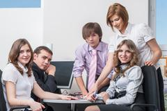 Young business team Kuvituskuvat