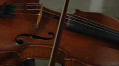 Playing the Violin-Fiddle Stock Footage