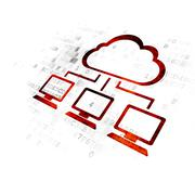 Cloud networking concept: Cloud Network on Digital background Piirros