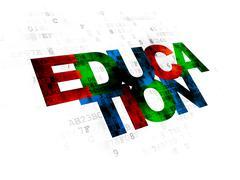 Studying concept: Education on Digital background Stock Illustration