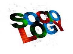 Studying concept: Sociology on Digital background - stock illustration