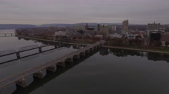 Zoom into Harrisburg at Dusk. Stock Footage