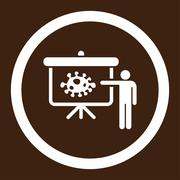 Bacteria Lecture Rounded Vector Icon Stock Illustration