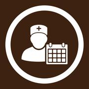 Stock Illustration of Doctor Appointment Rounded Vector Icon