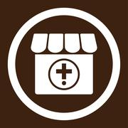 Drugstore Rounded Vector Icon Piirros