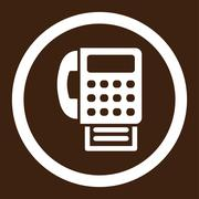 Stock Illustration of Fax Rounded Vector Icon