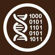 Genetic Code Rounded Vector Icon - stock illustration
