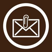 Stock Illustration of Mail Attachment Rounded Vector Icon