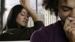Couple breaking up sad crying slow motion - stock footage