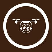 Stock Illustration of Medication Quadcopter Rounded Vector Icon