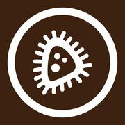 Micro Parasite Rounded Vector Icon - stock illustration