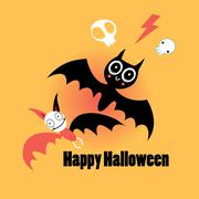 Bats for Halloween Stock Illustration