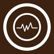 Pulse Monitoring Rounded Vector Icon - stock illustration