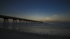 Sunrise Time Lapse at Wrightsville Beach, NC By The Pier Stock Footage