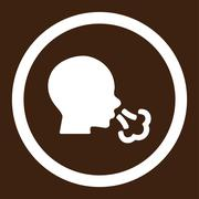 Stock Illustration of Sneezing Rounded Vector Icon