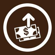 Spend Money Rounded Vector Icon - stock illustration