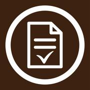 Valid Document Rounded Vector Icon Stock Illustration