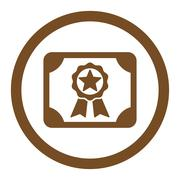 Award Diploma Rounded Vector Icon Stock Illustration