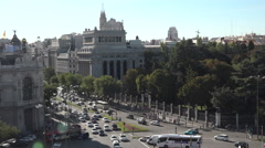 Madrid view from City Hall Stock Footage