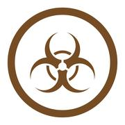 Stock Illustration of Biohazard Symbol Rounded Vector Icon