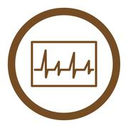 Cardiogram Rounded Vector Icon Stock Illustration