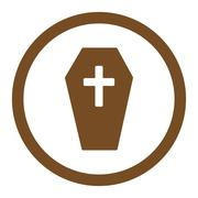 Coffin Rounded Vector Icon Piirros