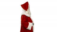 Santa Claus is Nodding - stock footage