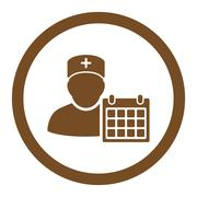 Doctor Appointment Rounded Vector Icon - stock illustration