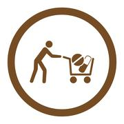 Drugs Shopping Rounded Vector Icon Stock Illustration