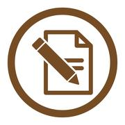Edit Records Rounded Vector Icon Stock Illustration