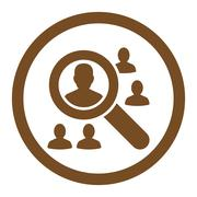 Explore Patients Rounded Vector Icon - stock illustration