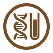 Genetic Analysis Rounded Vector Icon - stock illustration